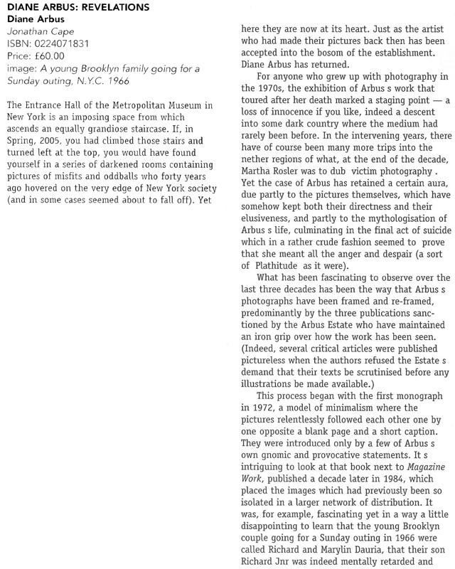 Diane Arbus review