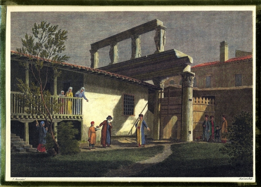 James Stuart: Engraving after drawing made at Salonika, 1753