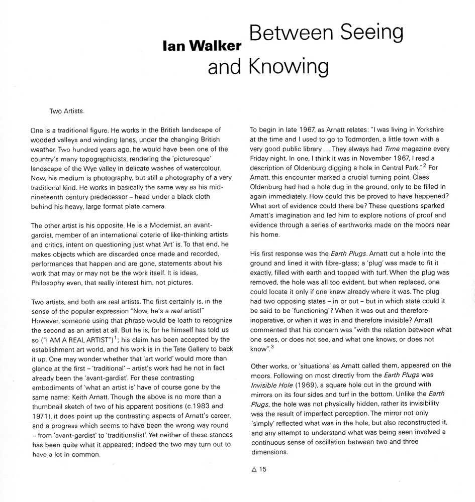 Between Seeing and Knowing