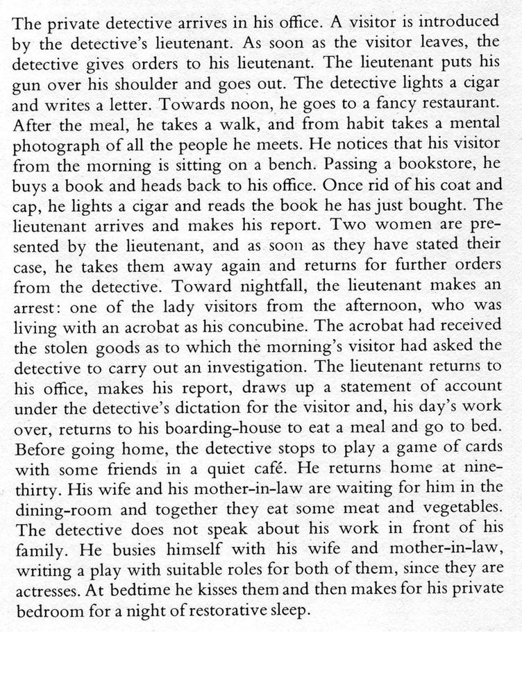 Rene Magritte: Nat Pinkerton (translation)