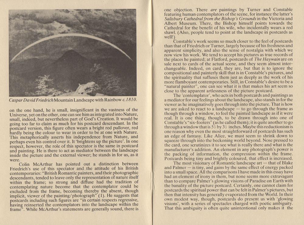 After Nature: Postcards and Landscape