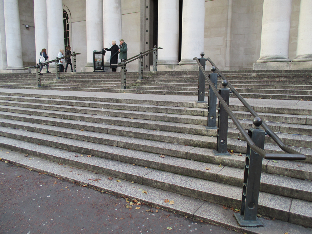 National Museum of Wales steps